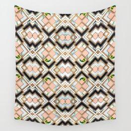 Art deco geometric pattern Wall Tapestry