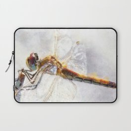 Platinum White Dragonfly Watercolor Laptop Sleeve