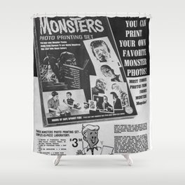 Printable Monsters Shower Curtain