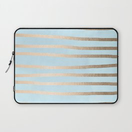 Abstract Drawn Stripes Gold Tropical Ocean Sea Turquoise Laptop Sleeve