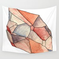 crystal Wall Tapestries featuring Crystal  by Matt Smith