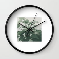 plant Wall Clocks featuring Plant by LAUNCH