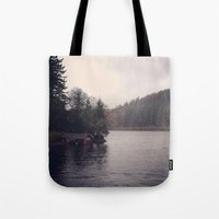cabin pressure Tote Bags featuring Cabin by Belle and Alaska