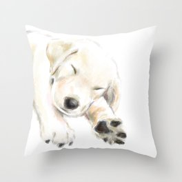 Golden Retriever Puppy Dog Throw Pillow