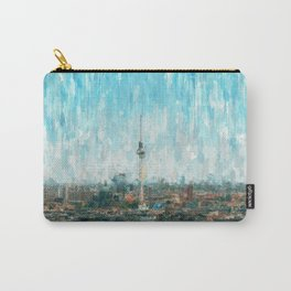 Berlin Skyline & Tv Tower, City Painting /  impressionism   / abstract landmarks drawing Carry-All Pouch