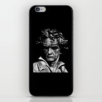 beethoven iPhone & iPod Skins featuring Beethoven by G_Stevenson