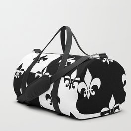 Black & white royal lilies (chessboard) Duffle Bag