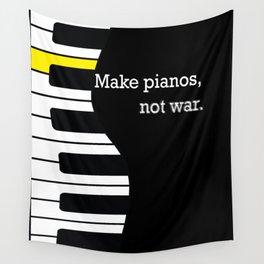 piano keyboard, not war - pianist anti-war slogan Wall Tapestry