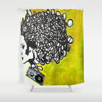 tangled Shower Curtains featuring Tangled  by LunaLunaRiotGirl