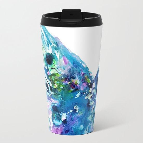 Pretty Peacock Metal Travel Mug