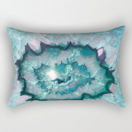Teal Agate Rectangular Pillow
