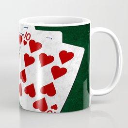 Poker Royal Flush Hearts Coffee Mug