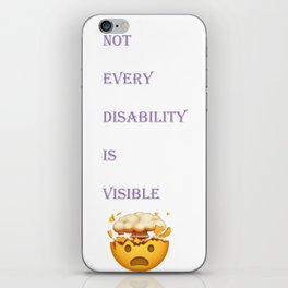 Not every disability is visible iPhone Skin