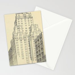 Vintage Skycrapers Stationery Cards