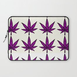 Filigree Floral Cannabis Leaf- 4x4 tile Purple Laptop Sleeve