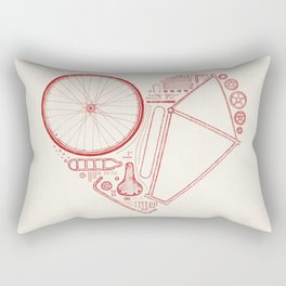 Love Bike Rectangular Pillow