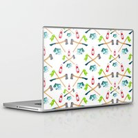 camping Laptop & iPad Skins featuring Camping by Whimsy Milieu