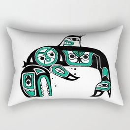 Native American Orca Rectangular Pillow