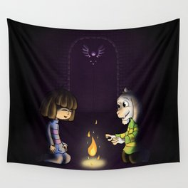 Frisk and Asriel Wall Tapestry