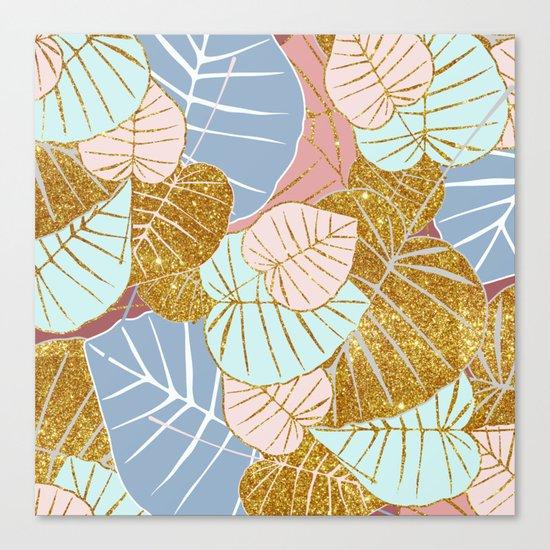 Floral Gold #society6 #decor #buyart Canvas Print