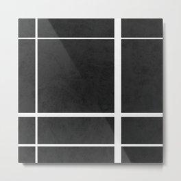 Divide - Black Metal Print