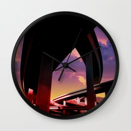 Sci-Fi Freeway Wall Clock