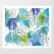 Mermaid Spirits Art Print