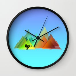 MTB Moutains Colors Wall Clock