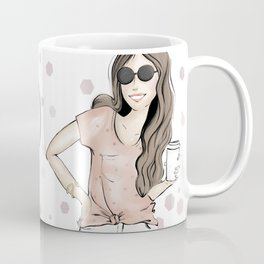 Coffee and Faith Girl Coffee Mug