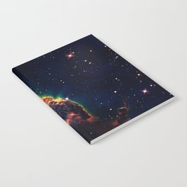 over a galaxy in the space Notebook