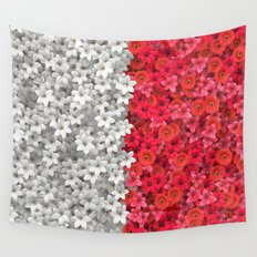 Boundary Flowers Wall Tapestry