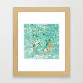 Save our Seas Framed Art Print