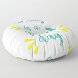 Good Day Print Floor Pillow