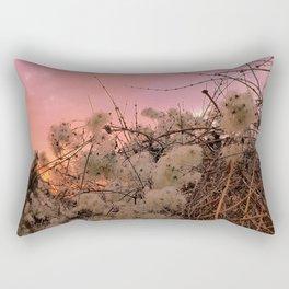 Winter Sunset And Clematis Vines Rectangular Pillow