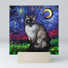 Siamese Night Mini Art Print