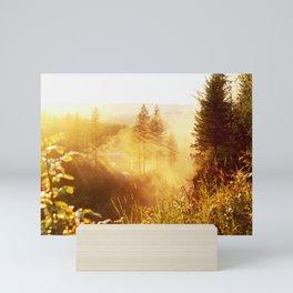 Trees in the Mist in Color Mini Art Print