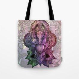 Ganesha Color - white Tote Bag