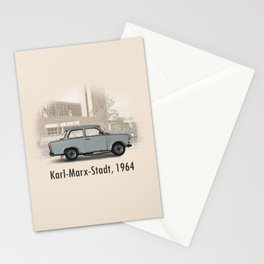A Trabant in Karl-Marx-Stadt Stationery Cards