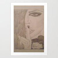kardashian Art Prints featuring Khloe Kardashian. by TheArtOfFaithAsylum