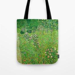 """Gustav Klimt """"Orchard With Roses"""" Tote Bag"""
