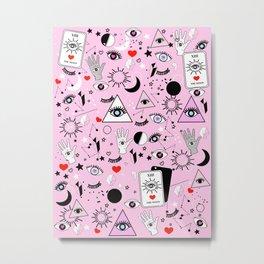 Black Magic - Pink Metal Print
