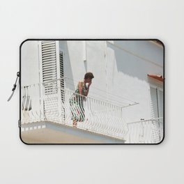 Lady on Balcony Laptop Sleeve