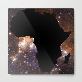 Galaxy Africa Blue Copper Metal Print
