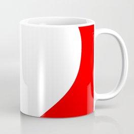 Heart (White & Red) Coffee Mug