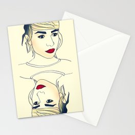 Red Lips / Beautiful Girl Stationery Cards