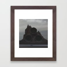 Volcano Framed Art Print