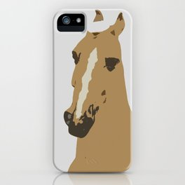 Abstract Palomino Horse iPhone Case