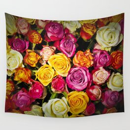 Real roses pattern Wall Tapestry
