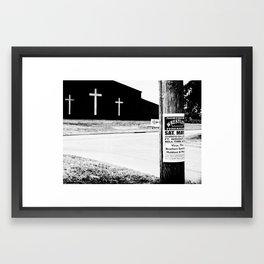 Wrestling with Religion Framed Art Print