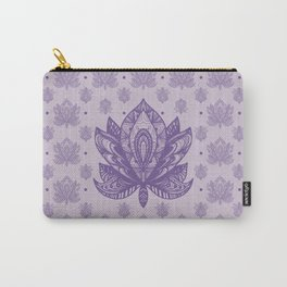 Gentle Pastel Purple  Lotus Flower Carry-All Pouch